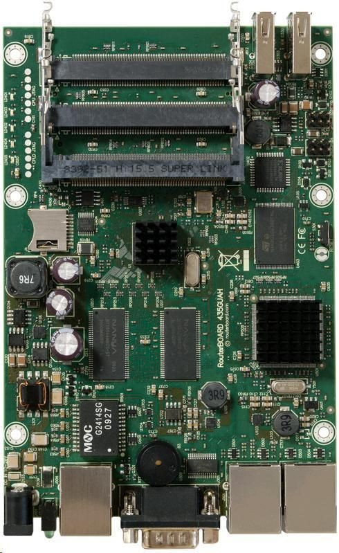 MikroTik RB435G (3xGLAN, 5xminiPCI PoE, AR7161 680MHz)