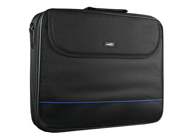 NATEC torba na notebooka IMPALA Black-Blue 17,3'' (usztywniona rama torby)