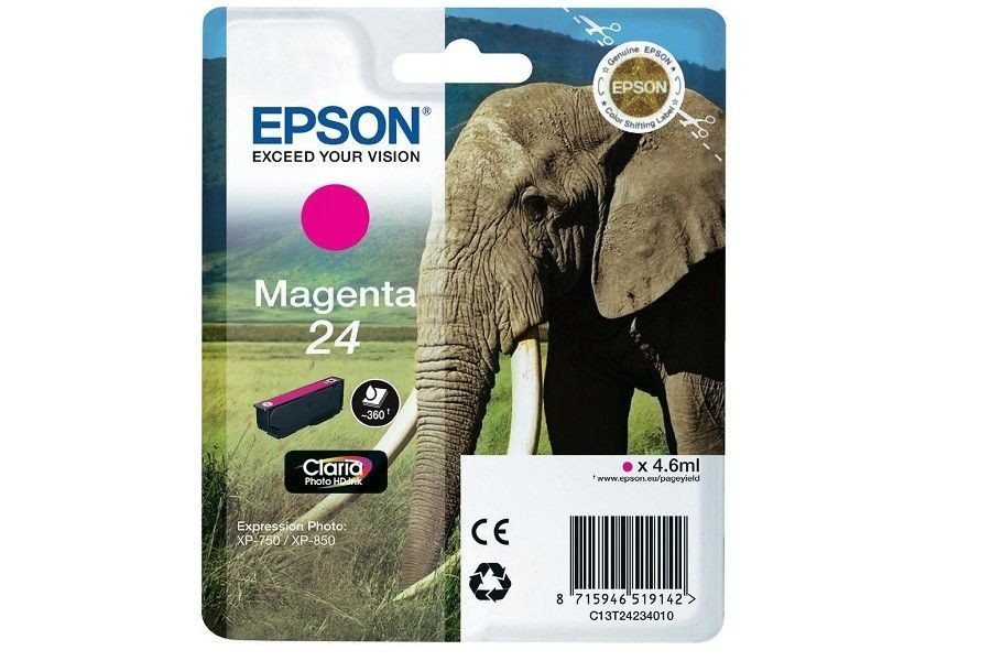Epson tusz T2423 magenta (4,6ml, XP-750/850)