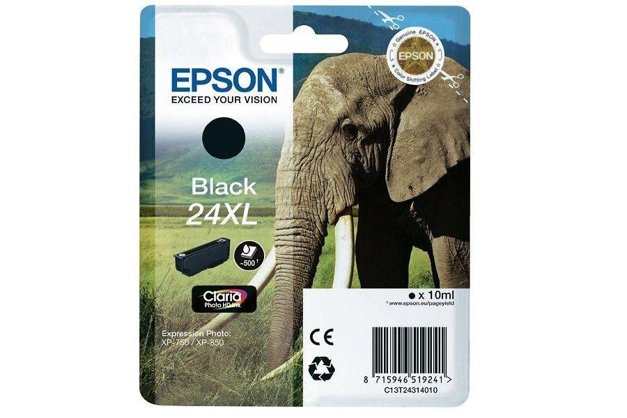 Epson tusz T2431 Black XL (10,0ml, XP-750/850)
