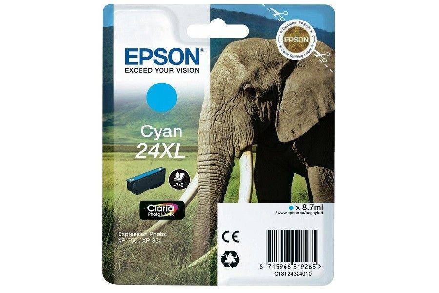 Epson Wkład atramentowy Tusz/ Expression XP750 Cyan 10ml