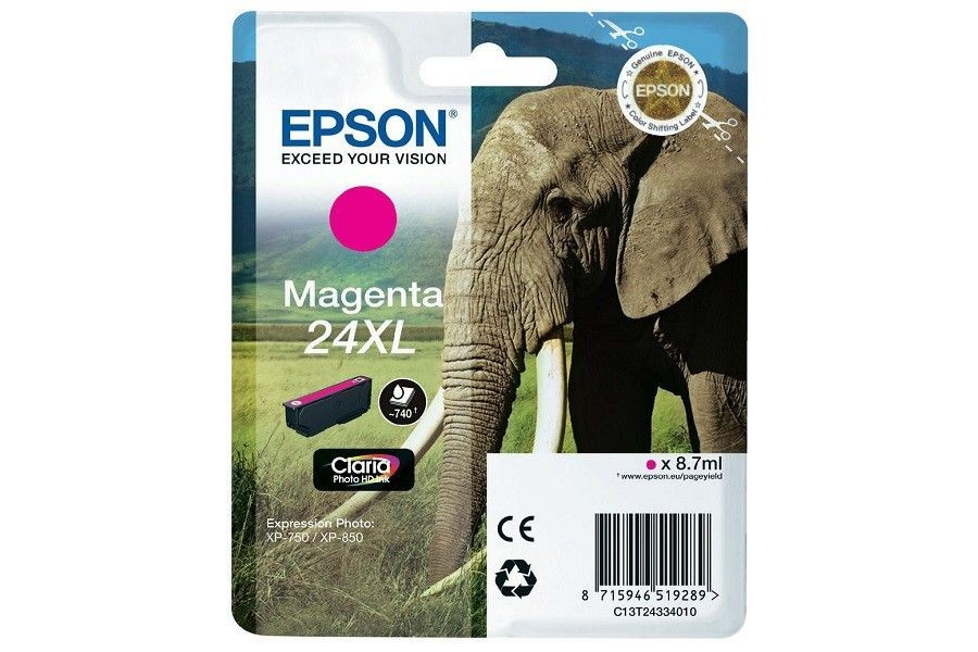 Epson Tusz T2433 magenta XL | 8,7 ml | XP-750/850