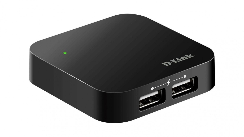 D-Link DUB-H4 koncentrator 4-portowy USB2.0 (4xport A, 1xport B, kabel, zasilacz)