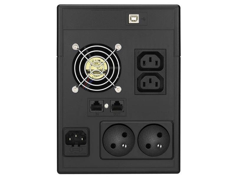 Power Walker UPS Line-Interactive 1500VA (2x 230V PL, 2x IEC, RJ11/RJ45, USB, LCD)