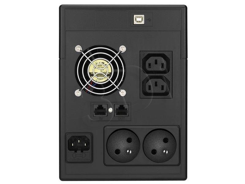 Power Walker UPS Line-Interactive 2000VA (2x 230V PL, 2x IEC, RJ11/RJ45, USB, LCD)