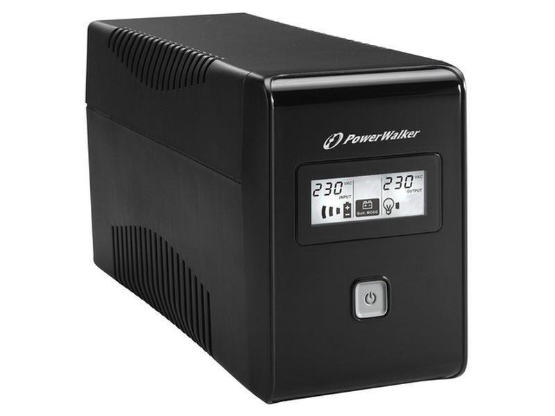 Power Walker UPS Line-Interactive 650VA (2x 230V PL, RJ11, USB, LCD)