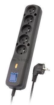 Lestar listwa zasilająca LV-530WA 5WA 3L 5,0m (czarna)