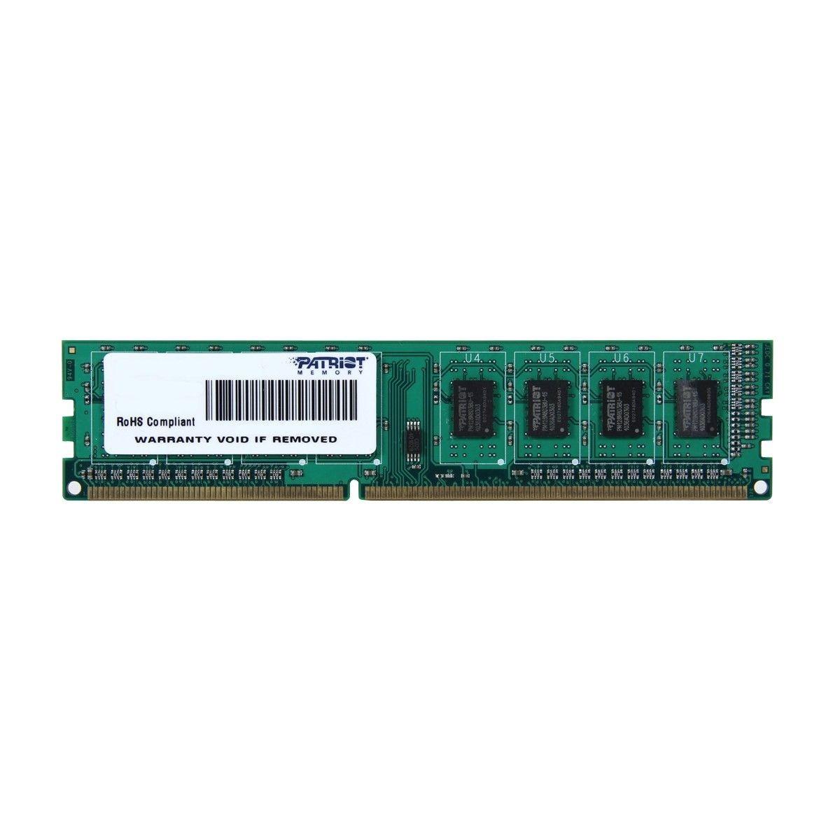 Patriot 4GB 1600MHz DDR3 Non-ECC CL11 DIMM