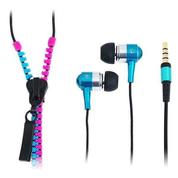 LogiLink słuchawki stereo z mikrofonem Zipper (różowo-niebieskie)