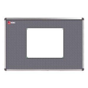 Nobo tablica Elipse 120x90cm (tekstylna, szara)