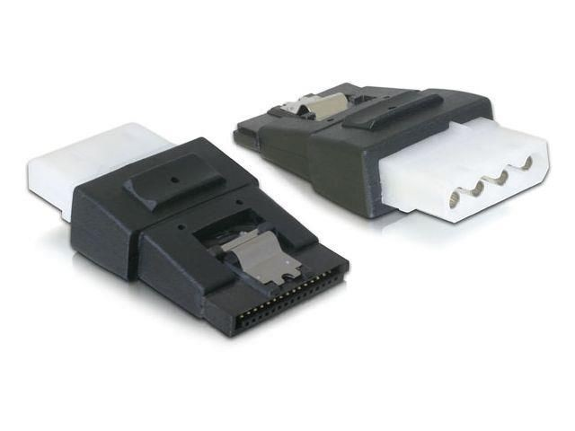DeLOCK adapter SATA Power 15-pin (F) (+ clip) -> Molex 4-pin (F)