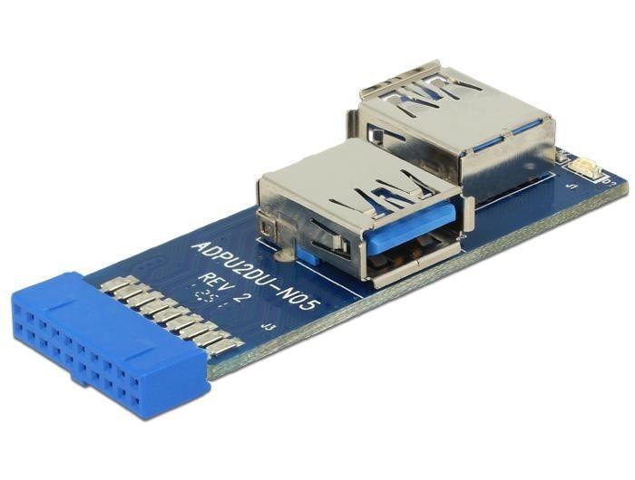 DeLOCK adapter USB 3.0 płyta główna -> 2xUSB 3.0 prawy, lewy