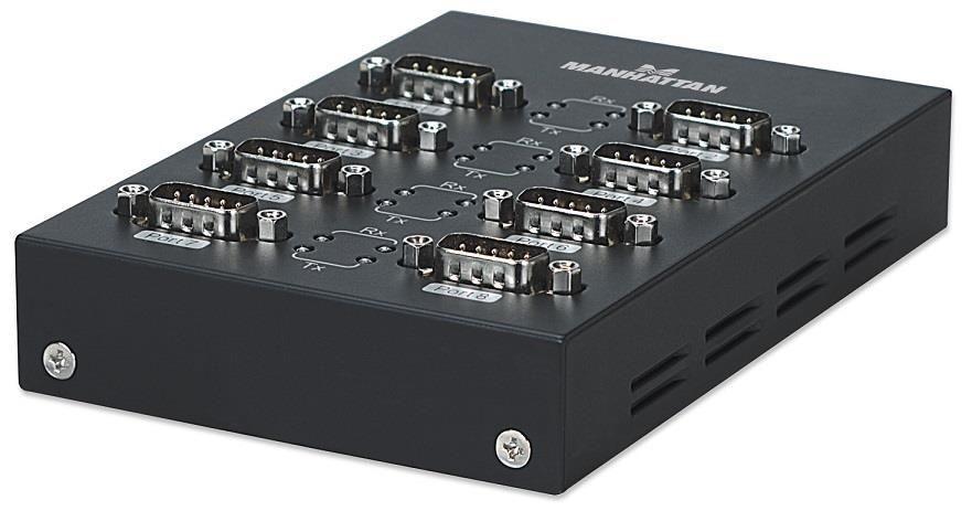 Manhattan Konwerter USB na port szeregowy RS232 DB9M, 8-portowy