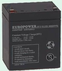 Ever Europower rechargeable battery 12V/5Ah T2 (6,35mm)