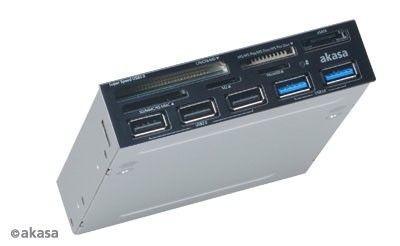 Akasa CZYTNIK KART USB 3.0 AK-ICR-17 USB 2.0 HUB