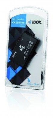 I-BOX CZYTNIK KART I-BOX USB, CZARNY, 6 SLOTÓW, ZEWNĘTRZNY