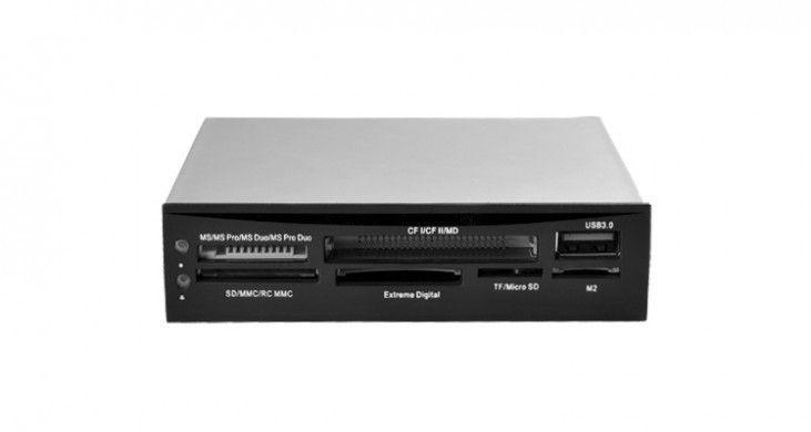 I-BOX CZYTNIK KART I-BOX 88w1 + USB 3.0, CZARNY, WEWNĘTRZNY
