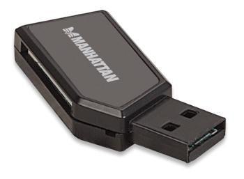 Manhattan Czytnik kart uniwersalny 24-w-1 USB 2.0 Zewnętrzny, Czarny
