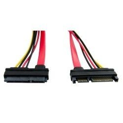 4World Kabel HDD | 22pin SATA (F) - 22pin SATA (M) | 50cm | czerwony