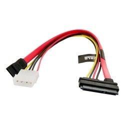 4World Kabel zasilający HDD | SATA 3 | SATA | 25cm | transfer danych | czerwony