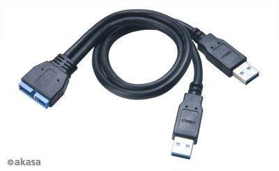 Akasa KABEL USB 3.0 ADAPTER AK-CBUB12-30BK