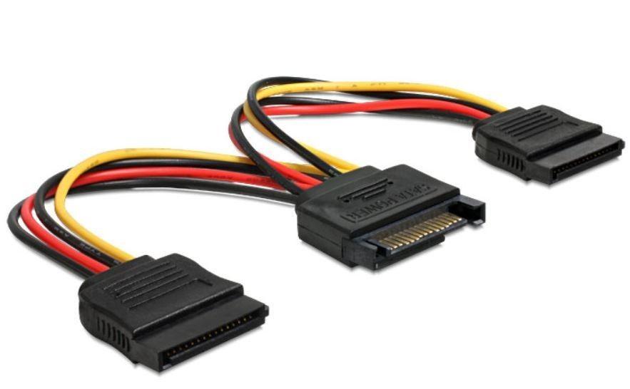 DeLOCK kabel do dysków 2x Serial ATA zasilający 0,15M