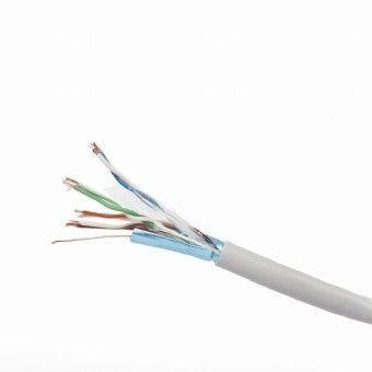 Gembird kabel instalacyjny FTP, 4x2, kat. 5e, 7*0,18mm CCA linka 305m, szary