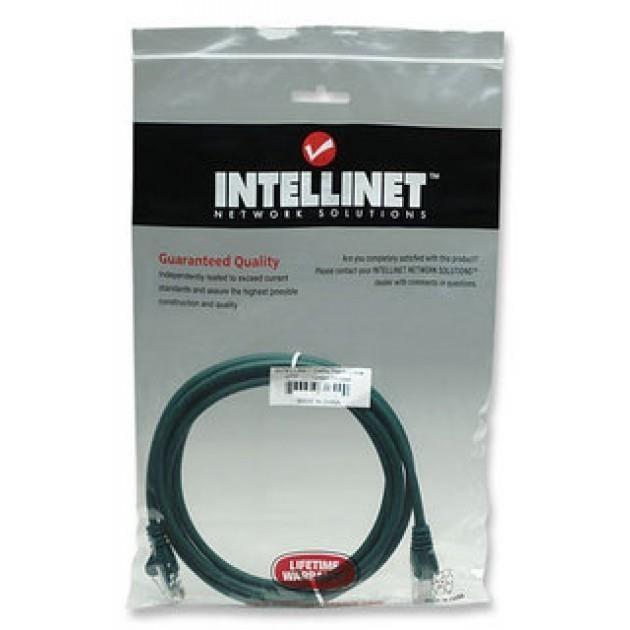 Intellinet Network Solutions patch cord RJ45, kat. 5e UTP, 3m zielony, 100% miedź
