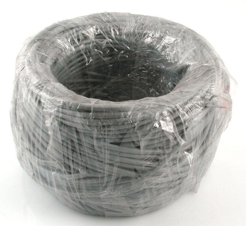 Madex kabel drut U/UTP 4PR 23AWG kat.6 PVC 100m szary - 100% miedź