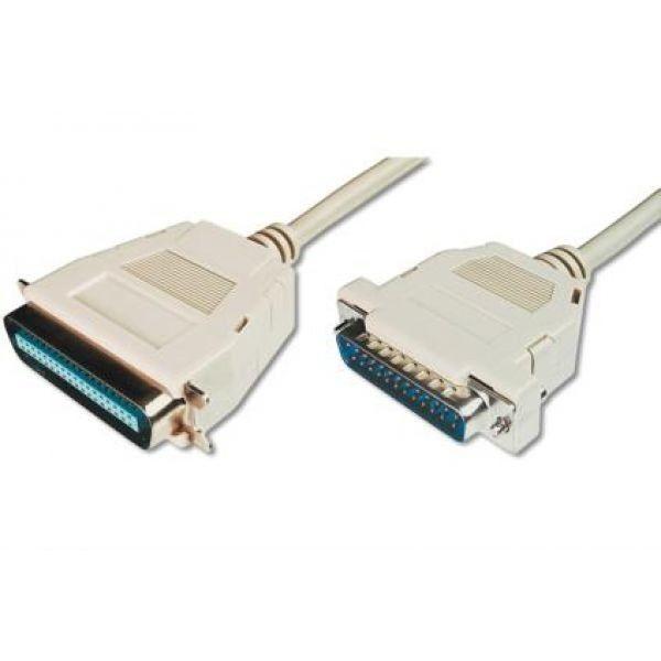 Kabel połączeniowy LPT Typ DSUB25/Centronics (36pin) M/M szary 5m