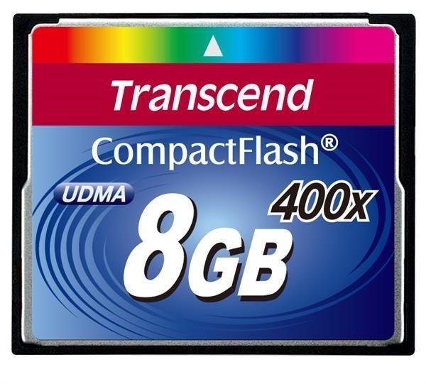 Transcend Compact Flash Card 8GB Ultra-fast (400X)