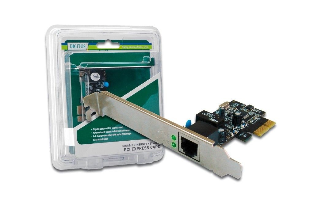 Digitus Karta sieciowa Gigabit Ethernet PCI Express DIGITUS, 5 LGW