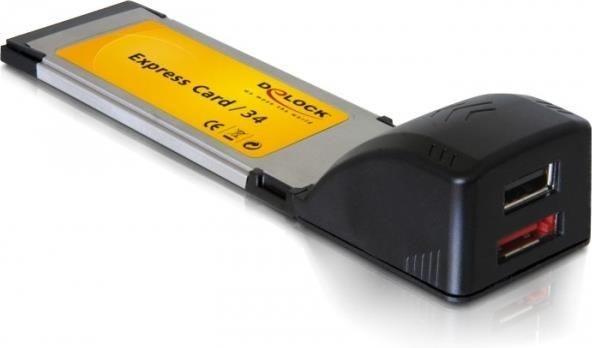 DeLOCK Karta express card -> USB 2.0 + eSATA