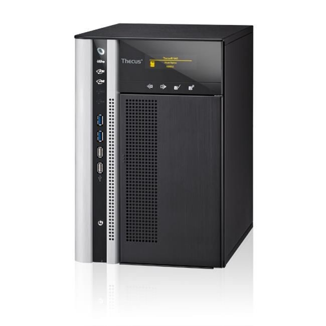 Thecus 6-Bay tower NAS, SATA, 2.6GHz Dual Core, 2GB DDR3, 2x GbE, USB 3.0