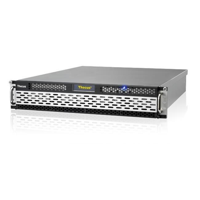 Thecus 8-Bay 2U rackmount NAS, SAS/SATA, 3.3GHz, 8GB DDR3, 3x GbE, RPS, HA