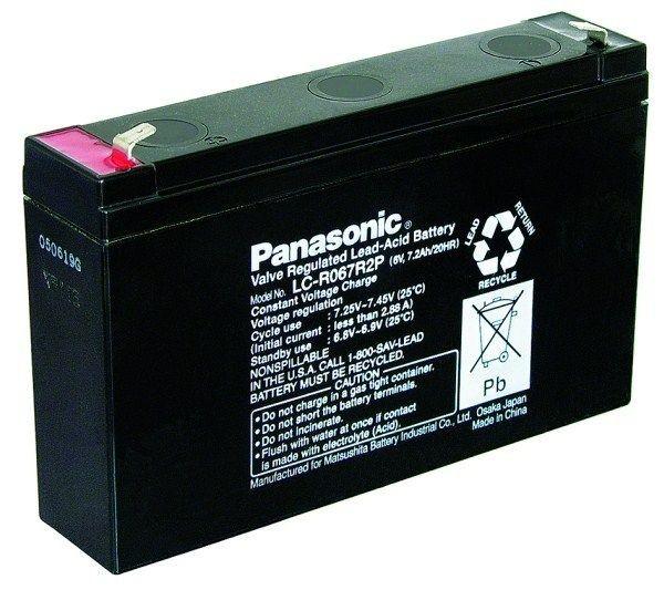 CyberPower Baterie - Panasonic LC-R067R2P (6V/7,2Ah - Faston 187)