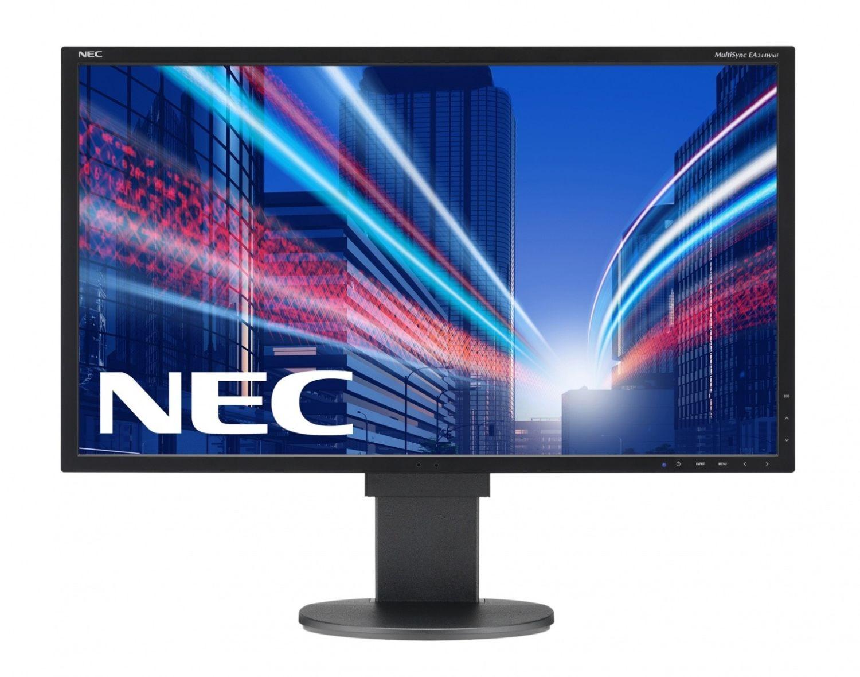 NEC Monitor EA244WMi 24.1inch, IPS, DVI/DP/HDMI/USB, głośniki, bk