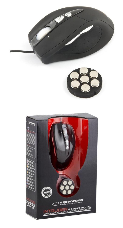 Esperanza Przewodowa Mysz Dla Graczy EM118 USB| 800/1600/2400 DPI |9D|Optyczna