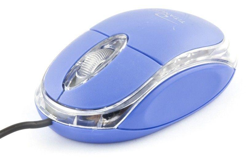 Esperanza TITANUM Przewodowa Mysz Optyczna TM102B USB RAPTOR 3D| 1000 DPI |Niebieska| BLIS