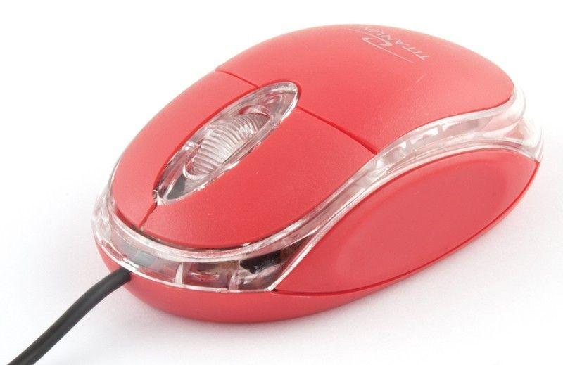 Esperanza TITANUM Przewodowa Mysz Optyczna TM102R USB RAPTOR 3D| 1000 DPI |Czerwona| BLIST