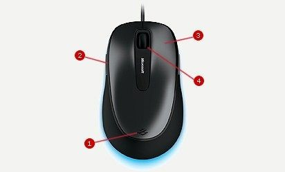Microsoft myš L2 Comfort Mouse 4500 Mac/Win USB