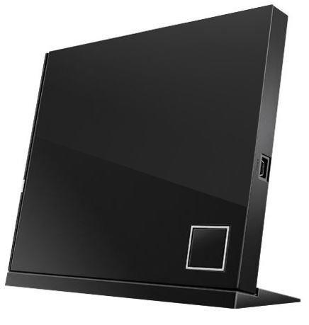 Asus nagrywarka zewnętrzna Blu-Ray SBW-06D2X, 6x, USB 2.0, slim, czarna, retail