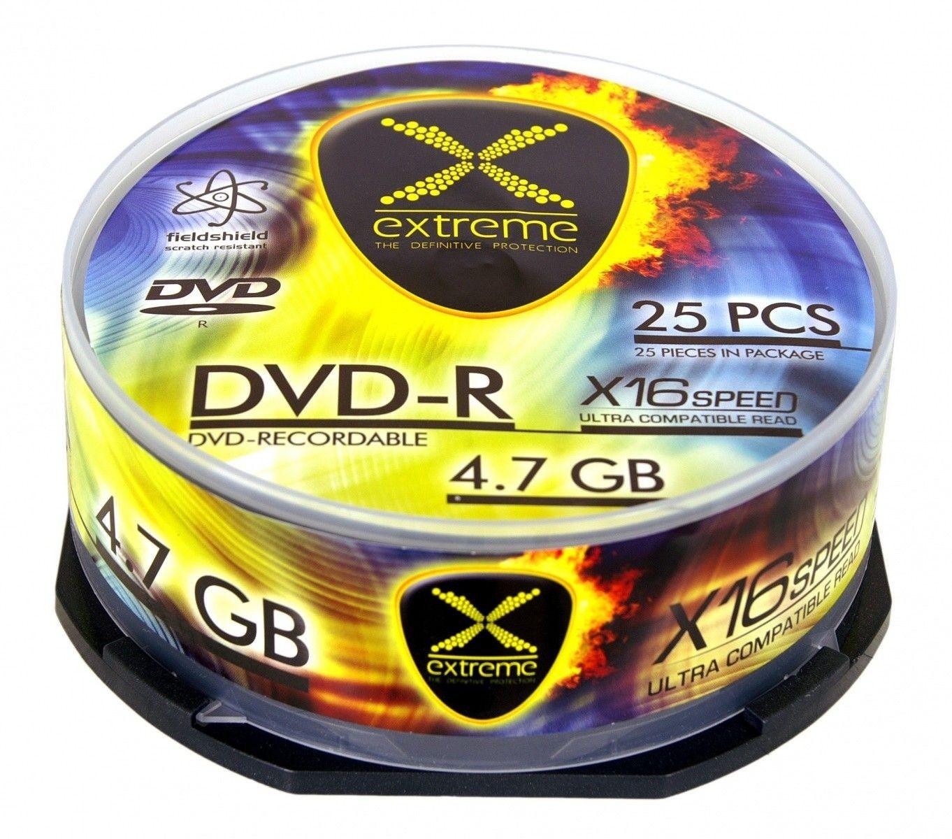 Esperanza DVD-R EXTREME 4,7 GB x16 CAKE BOX 25