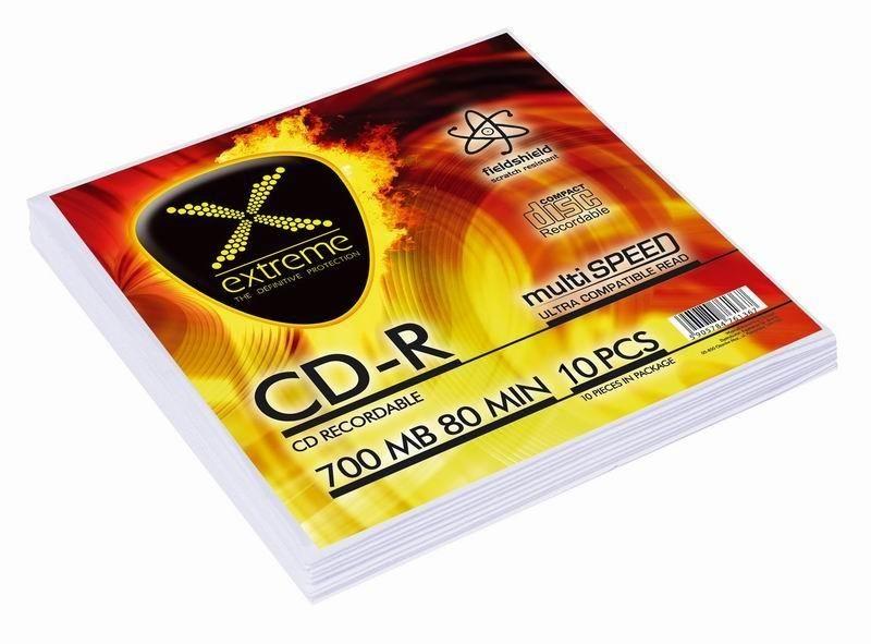 Esperanza CD-R EXTREME [ koperta 10 | 700MB | 52x | Silver ]