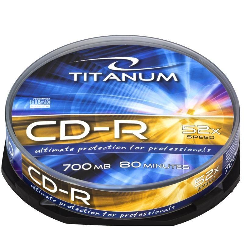 Esperanza CD-R TITANUM [ cake box 10 | 700MB | 52x ]