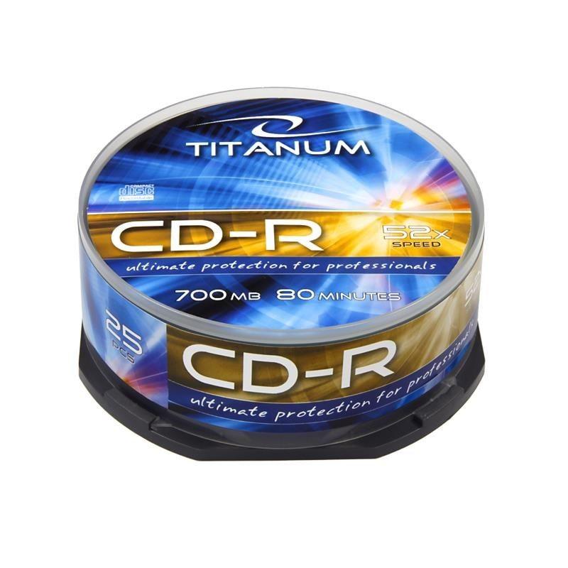 Esperanza CD-R TITANUM [ cake box 25 | 700MB | 52x ]