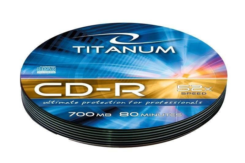 Esperanza CD-R TITANUM [ Soft Pack 10 | 700MB | 52x | Silver ]
