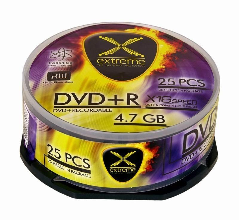 Esperanza DVD+R Extreme [ cake box 25 | 4.7GB | 16x ]