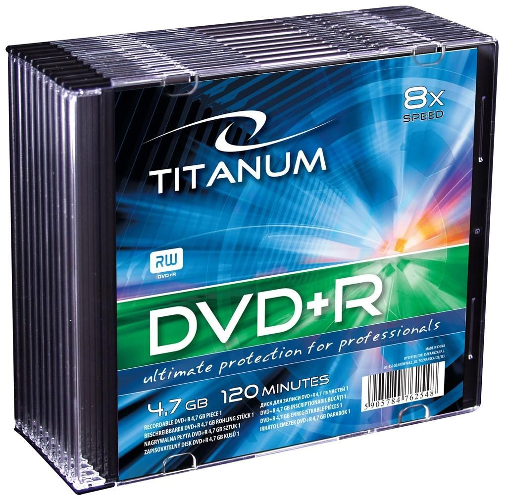Esperanza DVD+R TITANUM [ slim jewel case 10 | 4.7GB | 8x ]