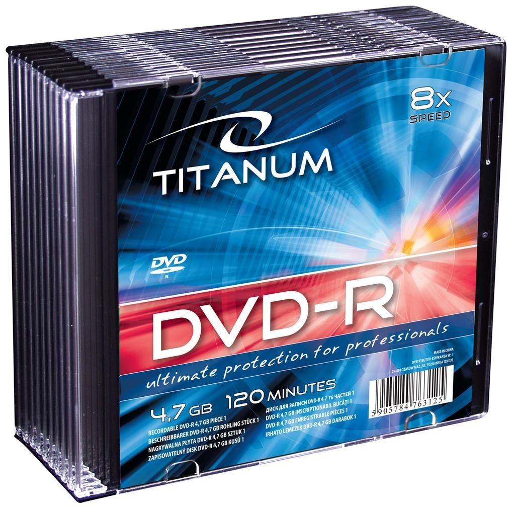 Esperanza DVD-R TITANUM [ slim jewel case 10 | 4.7GB | 8x ]